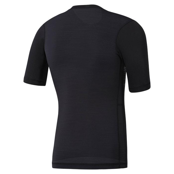 redondo cuello de corta estampada REEBOK manga Camiseta con qIw8nTF