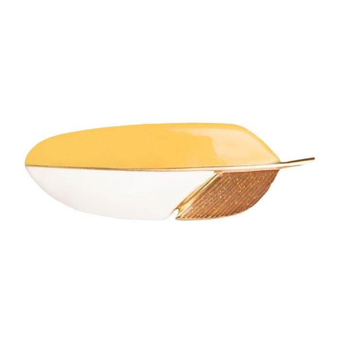 Prix Bas Prix Pas Cher Barrette plume jaune tricolore jaune couleur unique Little Woman Paris | La Redoute Combien Pas Cher En Ligne Ordre D'achat Pas Cher Avant sh07NKXOj