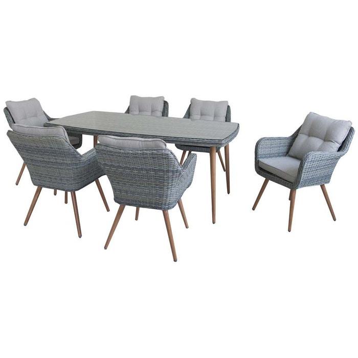 Salon de jardin r sine tress e san vito florida 6 - La redoute table de jardin en resine tressee ...