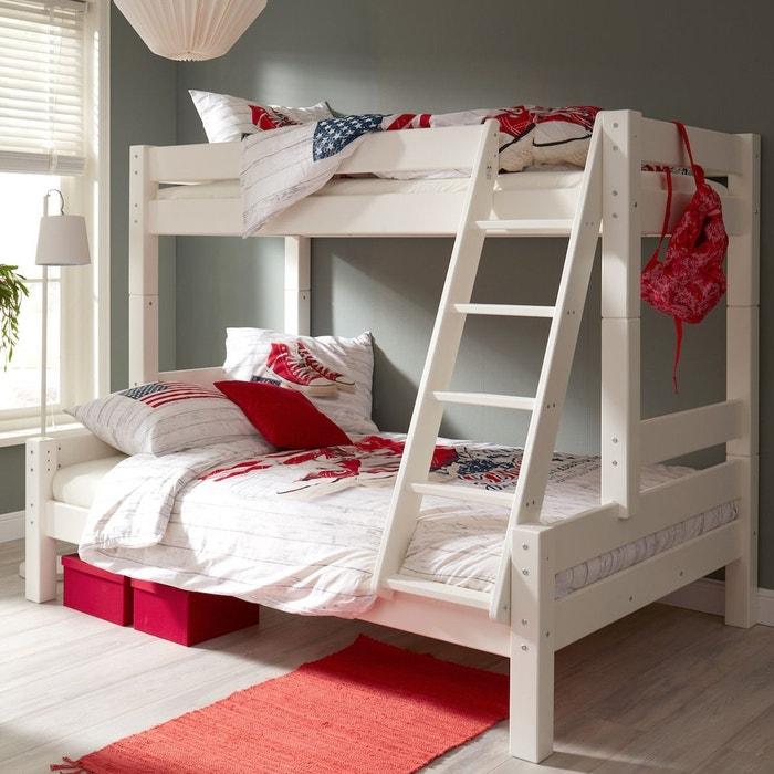 soldes lit superpos 90 140x200 lilja blanc blanc alfred. Black Bedroom Furniture Sets. Home Design Ideas