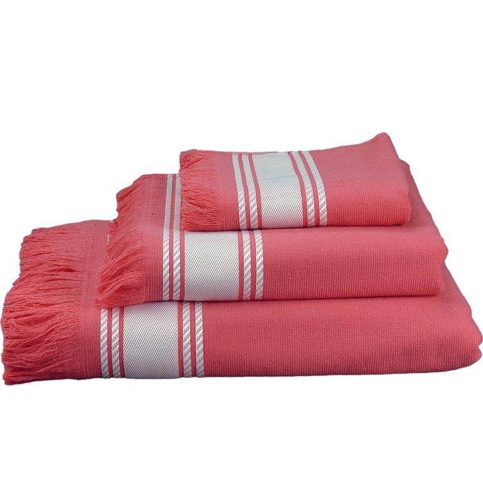serviette de toilette 50x100cm bahamas framboise sensei la maison du coton la redoute. Black Bedroom Furniture Sets. Home Design Ideas