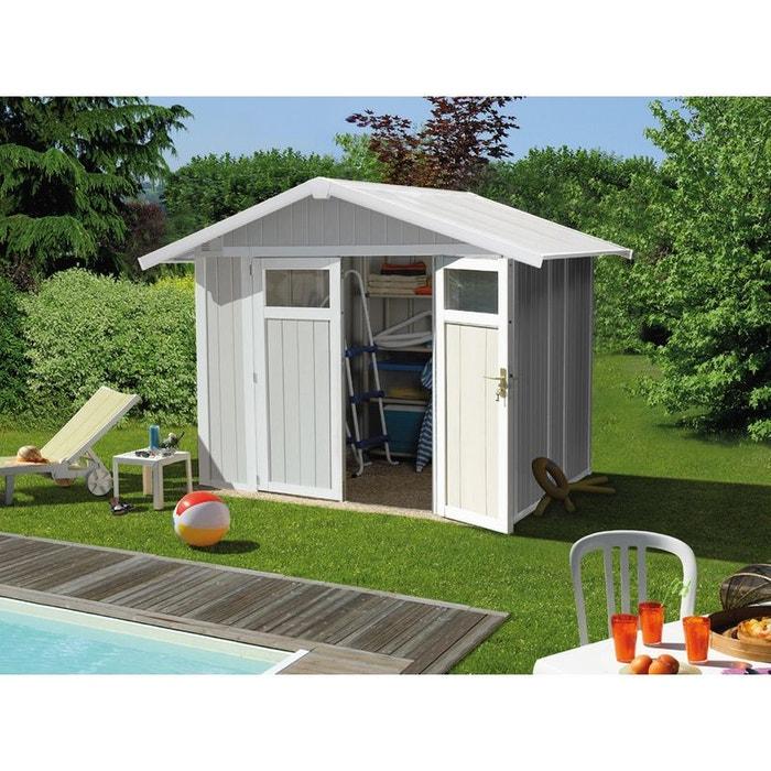 Abri jardin utility 4 9 2 42 x 2 02 x m 26mm beige habitat et jardin la - Abri de jardin utility la rochelle ...
