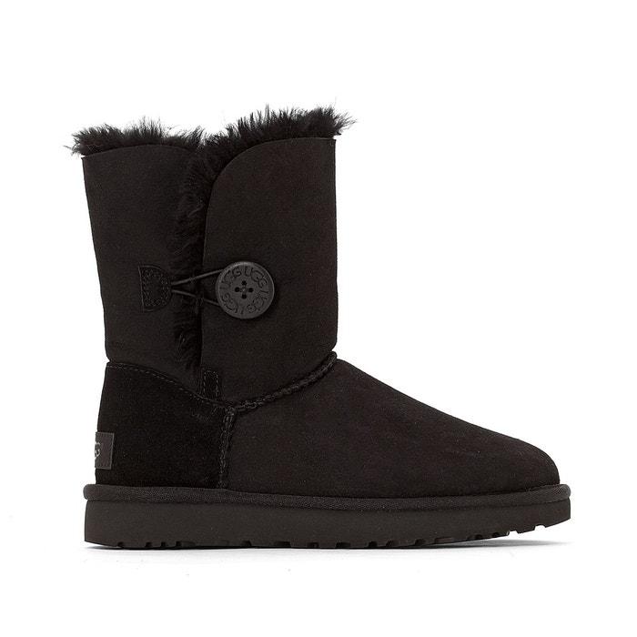 Boots croûte de cuir vachette noir Ugg Jeu À La Recherche De uvFEHY