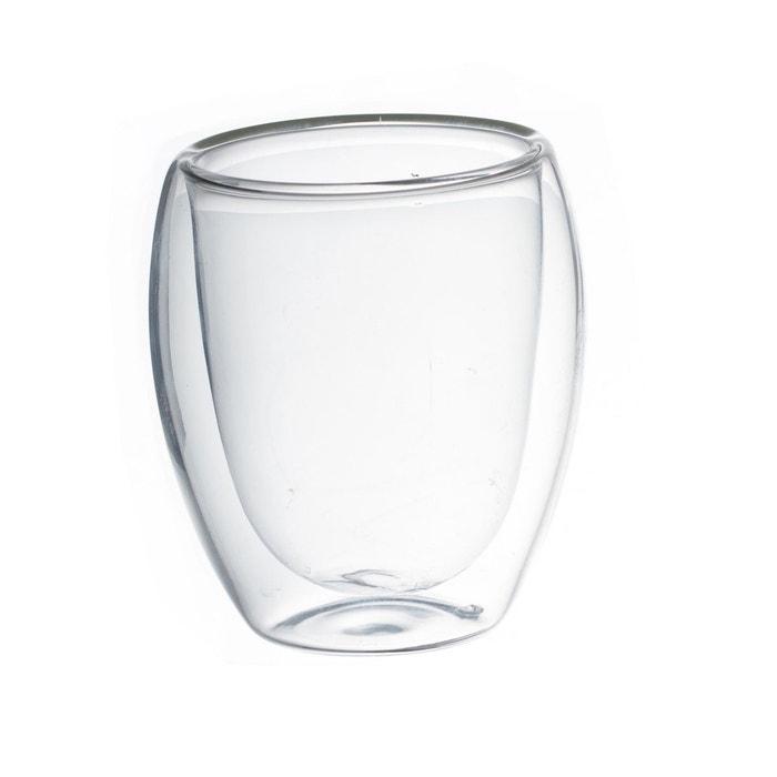 2 tasses caf double paroi verre transparent atmosphera la redoute. Black Bedroom Furniture Sets. Home Design Ideas