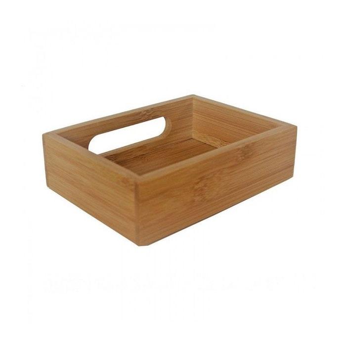 Demi plateau de rangement salle de bain bambou superposable bois ...