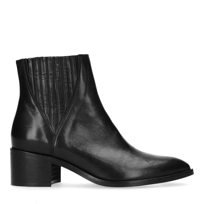 Chelsea boots en cuir à talon noir Sacha   La Redoute 8495dc0a13d8