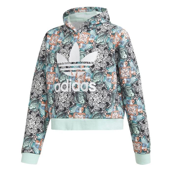 Sweat-shirt à capuche zoo multicolore Adidas Originals  19502f6b562