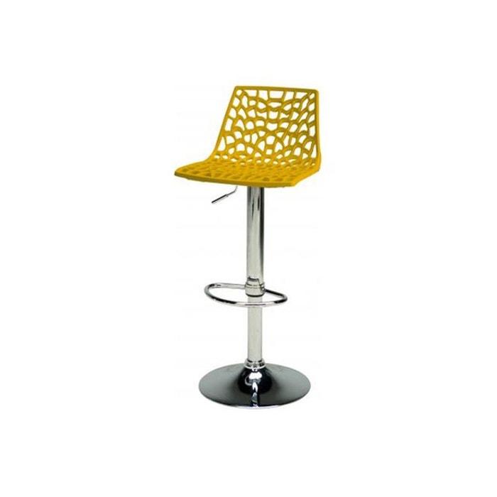 Tabouret de bar design jaune smart jaune declikdeco la - Tabouret de cuisine design jaune ...