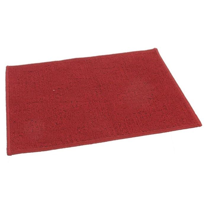 Tapis Uni 40 X 60 Cm Rouge Rouge Clean House La Redoute
