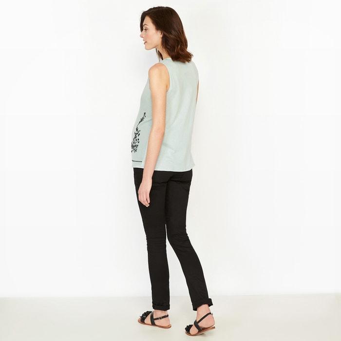 Camiseta tejidos embarazo La dos de Redoute bordado Collections detalle EqxwYS6