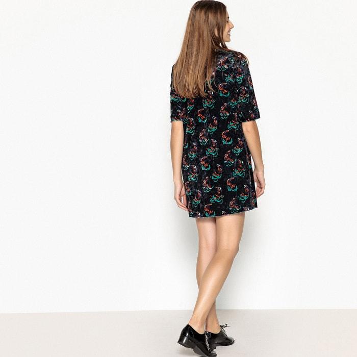 flores de U patinadora SOON SEE con Vestido corto estampado v1x4qR