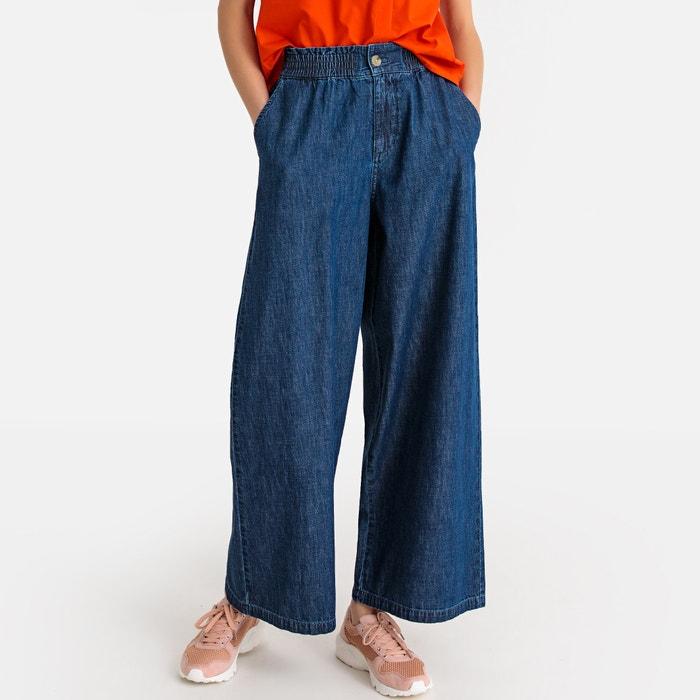 15c0680d75 Falda pantalón vaquera de talle alto azul La Redoute Collections ...