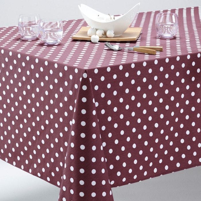 nappe pois pur coton garden party violet blanc la redoute interieurs en solde la redoute. Black Bedroom Furniture Sets. Home Design Ideas