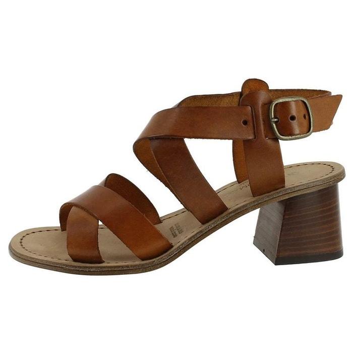 Sandales   nu-pieds cuir marron Antichi Romani   La Redoute cbfda2ef012d