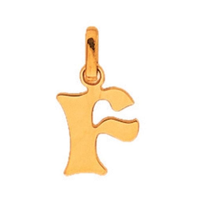 Pendentif découpé initiale lettre f or jaune 750/000 (18 carats) couleur unique So Chic Bijoux | La Redoute 100% Garantie De Vente En Ligne pmWhZ