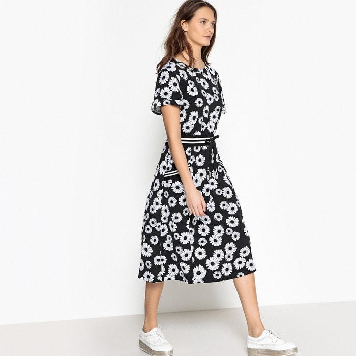 Floral Print Tie Waist Midi Dress La Redoute Collections