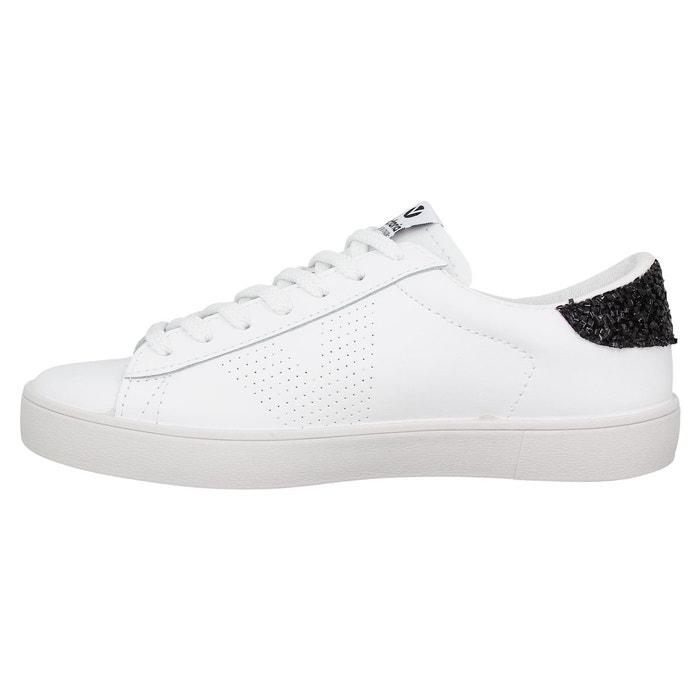 Baskets femme victoria 26100 cuir femme blanc noir blanc/noir Victoria