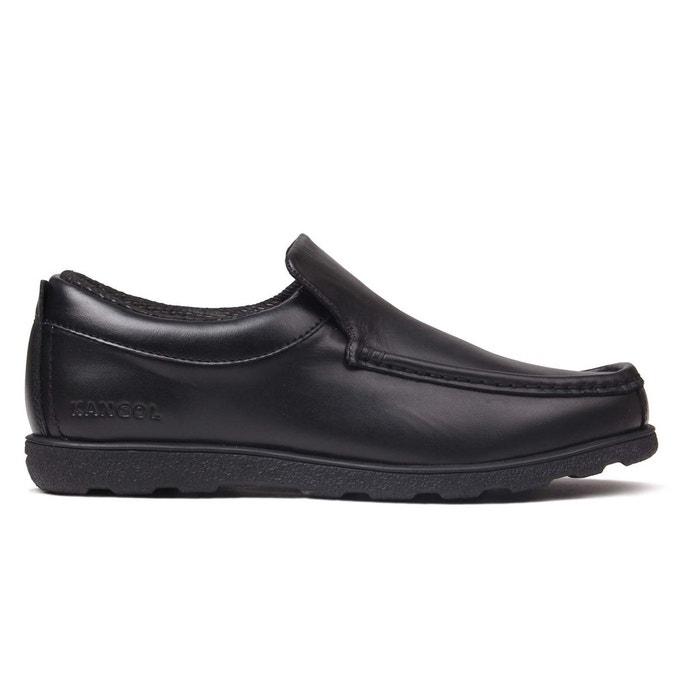 Chaussures mocassins habillé noir Kangol