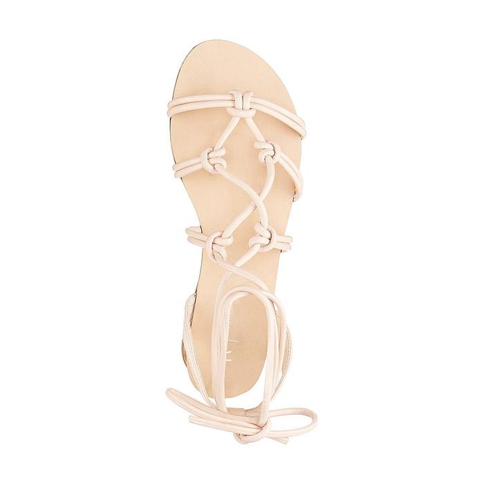 Sandales plates brides tressées La Redoute Collections