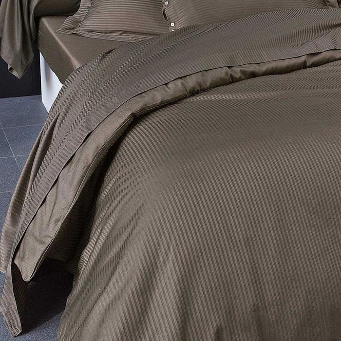 drap plat uni satin jacquard satin 80fils marron chocolat tradition des vosges la redoute. Black Bedroom Furniture Sets. Home Design Ideas