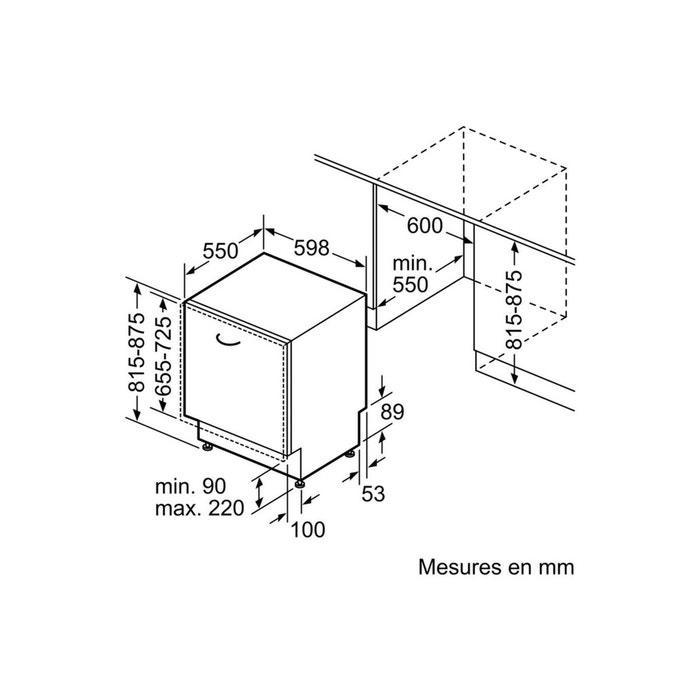 lave vaisselle encastrable smv46ix05e blanc bosch la redoute. Black Bedroom Furniture Sets. Home Design Ideas