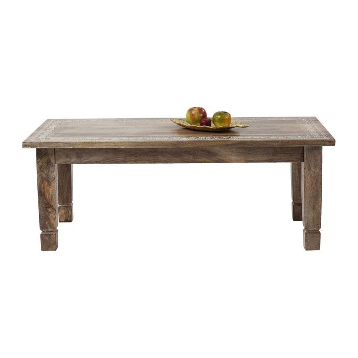 table basse desert queen 120x60cm kare design bois fonce kare design la redoute. Black Bedroom Furniture Sets. Home Design Ideas