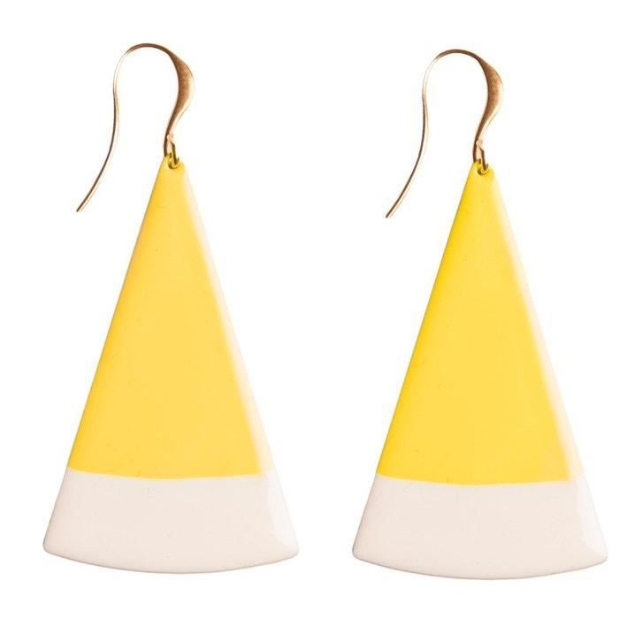 Boucles d'oreilles triangle bicolore jaune Little Woman Paris | La Redoute Bas Frais D'expédition En Vente 80s4VnZt0M