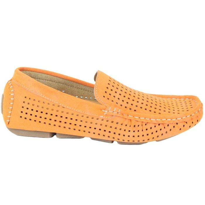 Kebello Mocassins bateau orange - Livraison Gratuite avec - Chaussures Mocassins Homme