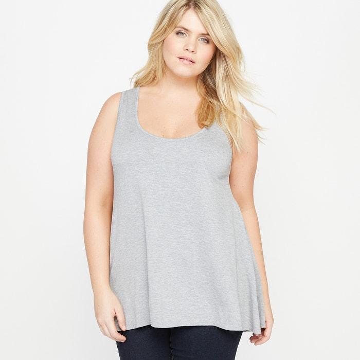 T-shirt con scollo rotondo tinta unita, senza maniche  CASTALUNA image 0