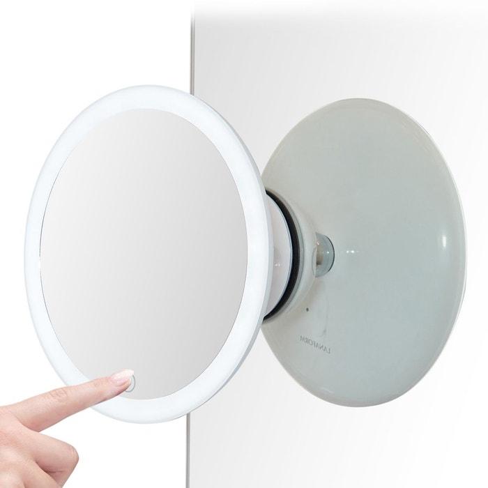 Miroir De Salle De Bain Grossissant Blanc Lanaform La Redoute