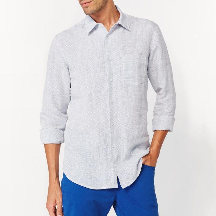 afbeelding Recht hemd in zuiver linnen La Redoute Collections