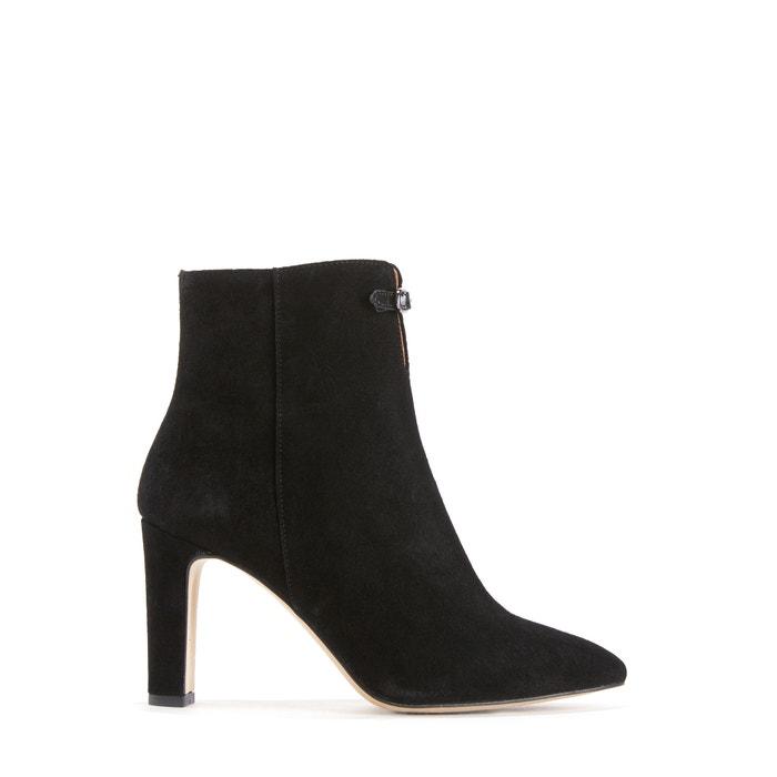 boots cuir talon haut nouvel noir petite mendigote la redoute. Black Bedroom Furniture Sets. Home Design Ideas