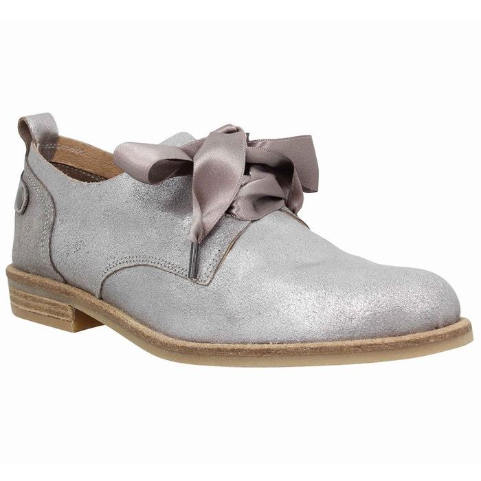 Chaussures à lacets femme pldm by palladium singa cuir  femme argent  argent Palladium  La Redoute
