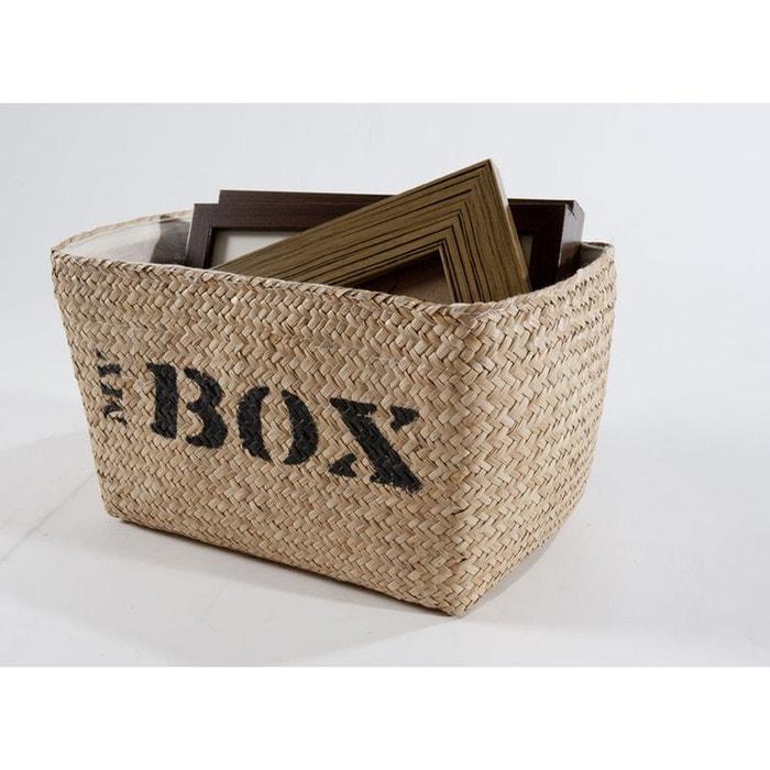 panier en jonc de mer my box naturel compactor la redoute. Black Bedroom Furniture Sets. Home Design Ideas