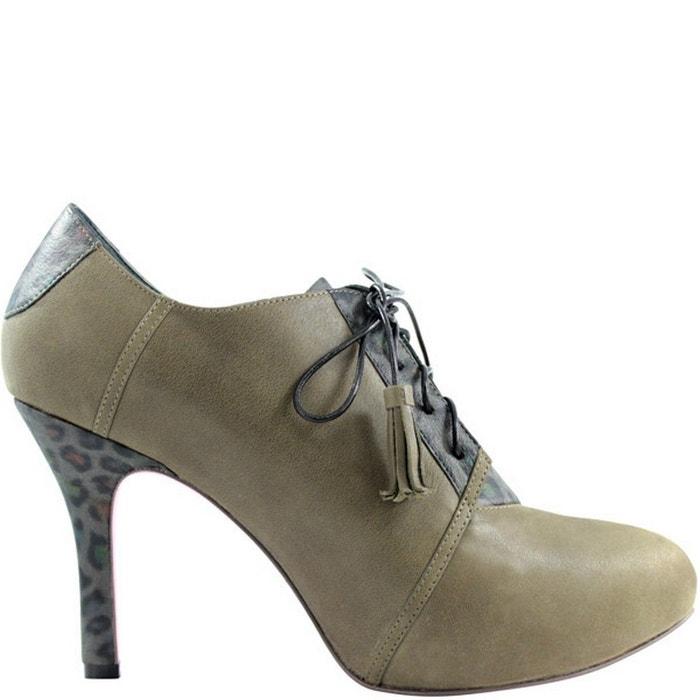 Chaussure femme en cuir enid bis gris Pring Paris