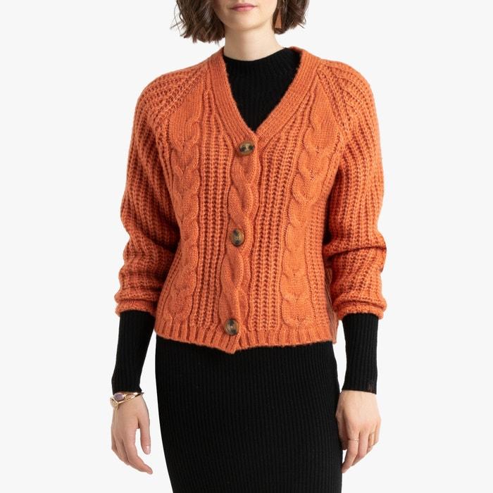 Vest met V-hals in grof tricot  LA REDOUTE COLLECTIONS image 0