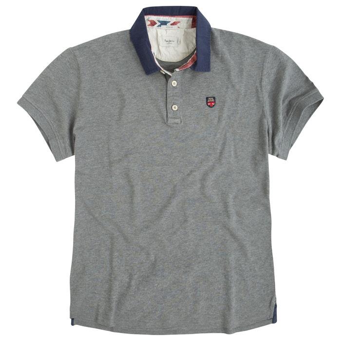 Musk Cotton Piqué Polo Shirt with Crest
