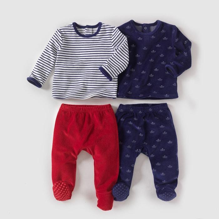 Pijama 2 peças, veludo (lote de 2), 0-3 anos R mini