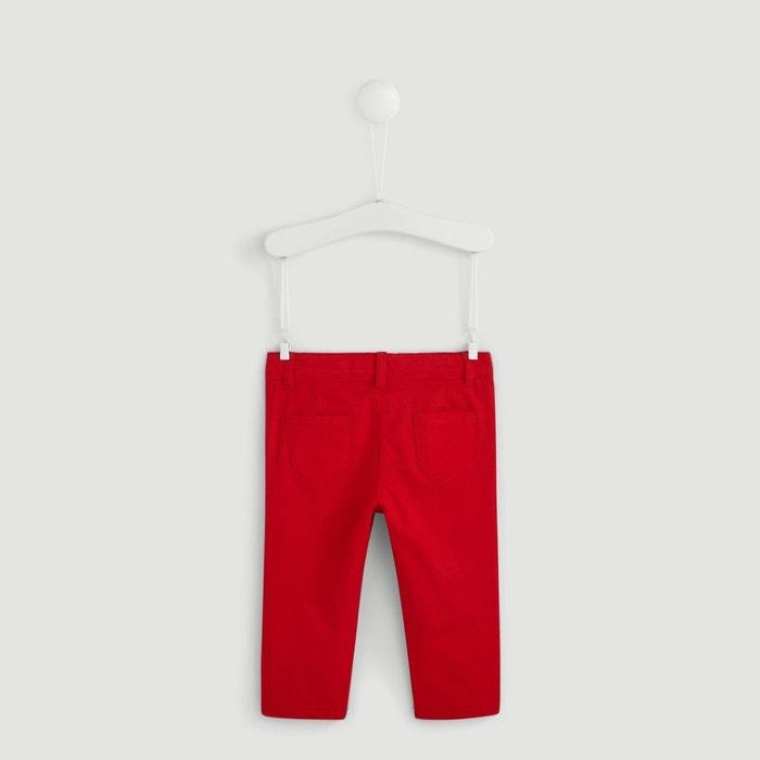 03c718caf1d2e Pantalon en coton doublé jersey rouge Bout'chou   La Redoute