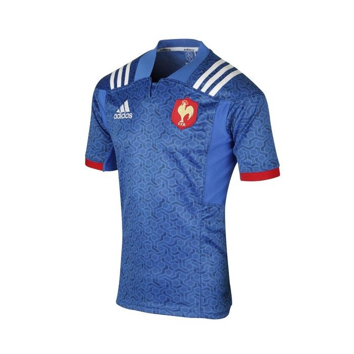 529c5834b699 Maillot rugby france ffr domicile 2018 bleu Adidas Performance