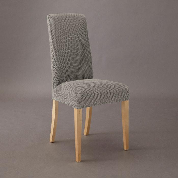 housse extensible pour chaise gaufr e ahmis la redoute interieurs la redoute. Black Bedroom Furniture Sets. Home Design Ideas