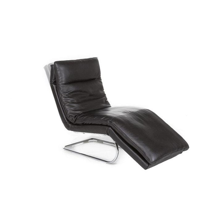 Chaise longue relax absolute noir seanroyale la redoute - La redoute chaise longue ...