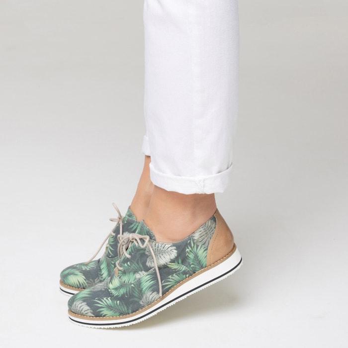 con La estampado Collections Zapatos tropical derbies Redoute OPqPvI1