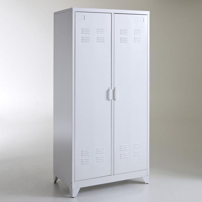 armoire vestiaire m tal 2 portes hiba la redoute interieurs la redoute. Black Bedroom Furniture Sets. Home Design Ideas