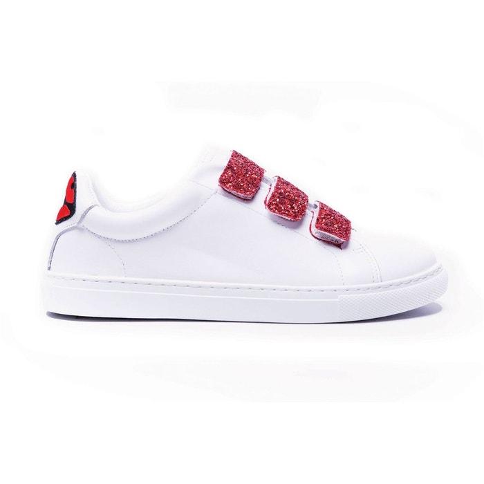 Sneakers edith back lips blanc Bons Baisers De Paname