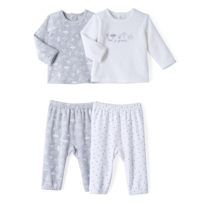 Pyjama 2 pièces velours lot de 2)- Oeko Tex  La Redoute Collections image 0