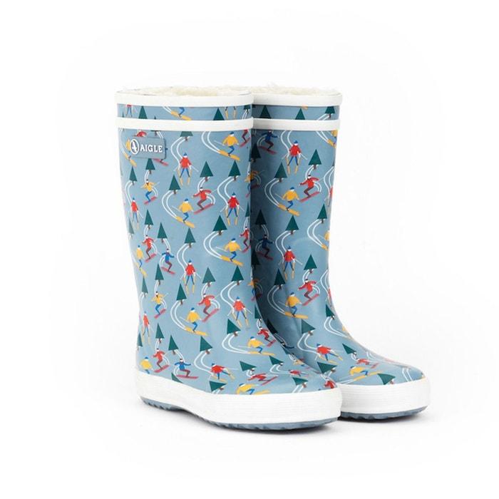 Bottes de pluie fourrées Lolly Pop Print Fur AIGLE image 0