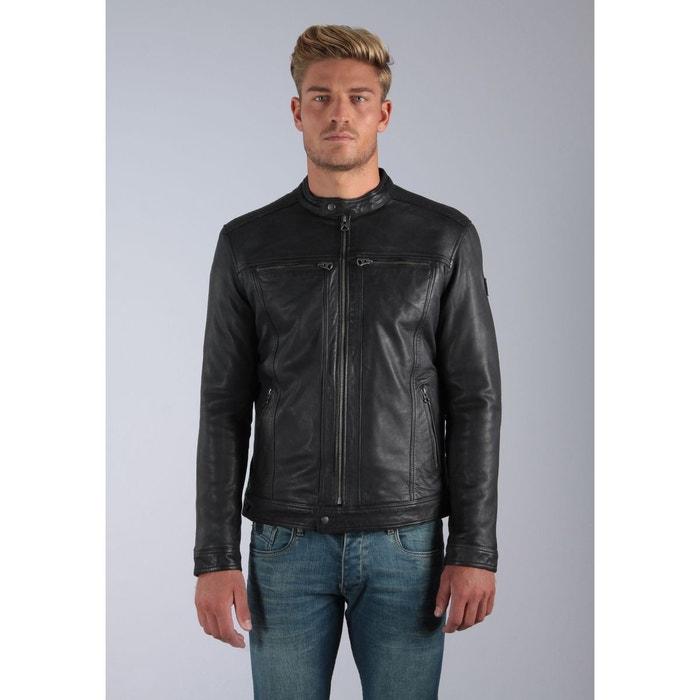 Black Motard Redoute Veste Style KaporalLa Zippée Greg Noir Cuir 8nPkX0wO