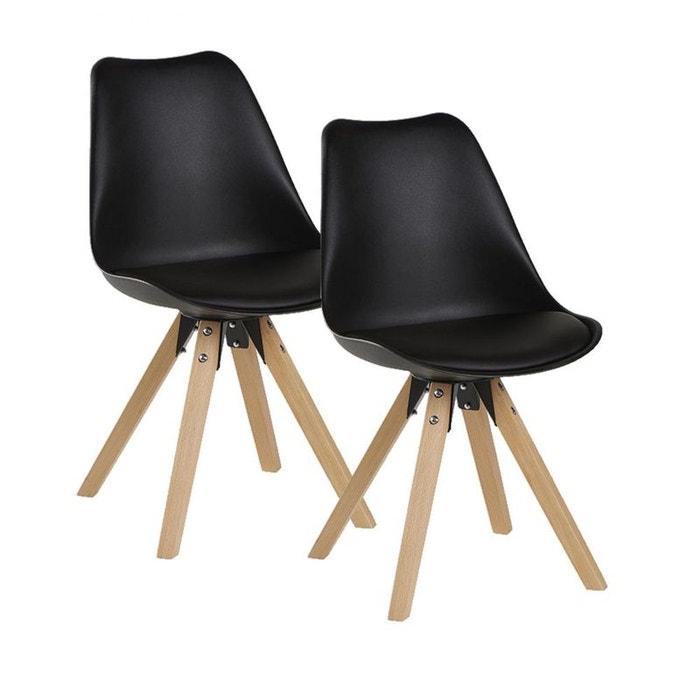 lot de 2 chaises esprit scandinave tony noir noir pier import la redoute. Black Bedroom Furniture Sets. Home Design Ideas