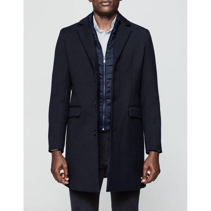 46203918a9f5c Manteau long avec parmenture bleu marine Brice   La Redoute